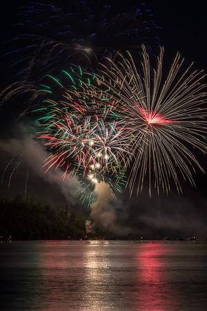 July 4 fireworks over Lake Otsego.