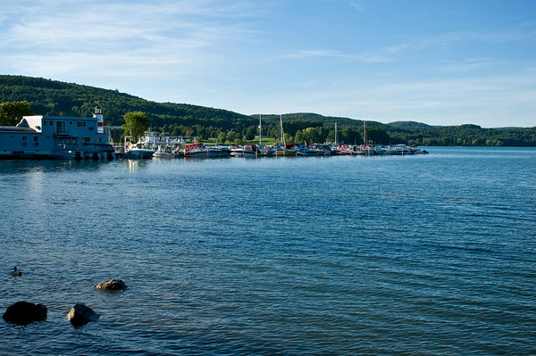 Marina in Cooperstown at the foot of Lake Otsego.
