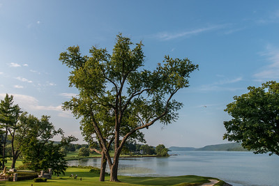 View from the porch of the Otesaga Hotel, Cooperstown, NY.