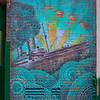 Beau Stanton's mural Cursum Perficio in Little Italy