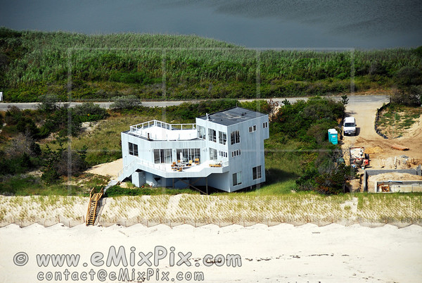 Aerial Image of a BRIDGEHAMPTON's Oceanfront House, Long Island, New York
