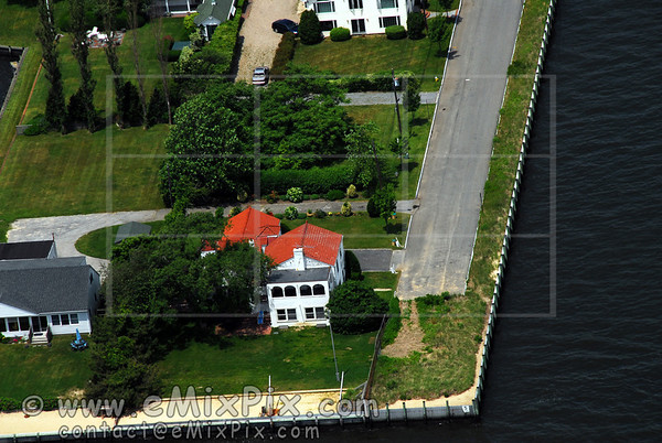 Aerial Image of a BRIGHTWATERS's Waterfront House, Long Island, New York