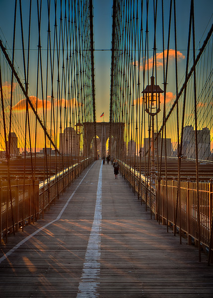 Early Morning on the Brooklyn Bridge