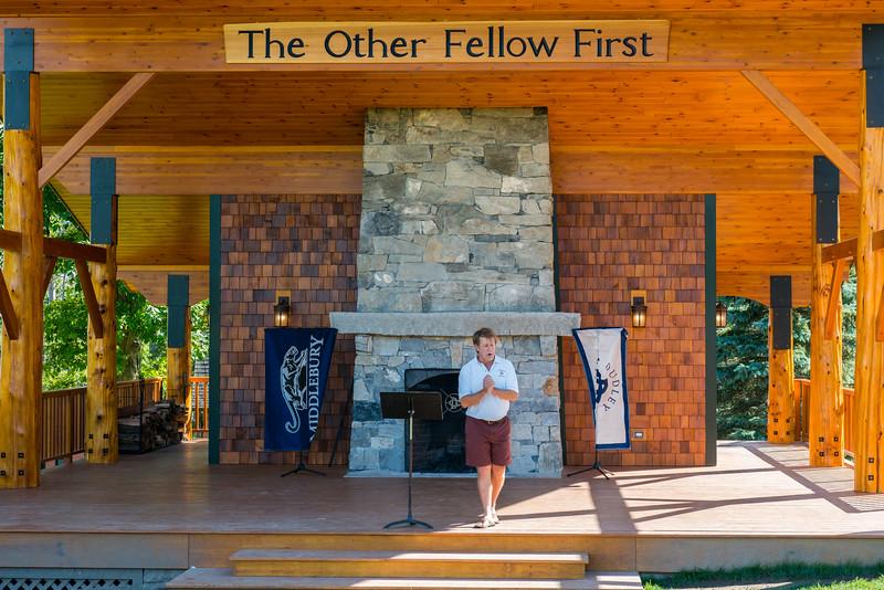 Middlebury Pavilion, Camp Dudley, Dedication, August 2014.