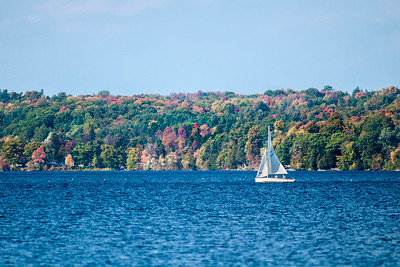 Sailing on Cazenovia Lake in Cazenovia, NY