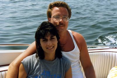 Aug 88 Marconi's boat off of Fire Island Elllen and Ken Audette