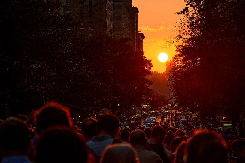 Manhattanhenge sunset. New York City, NY