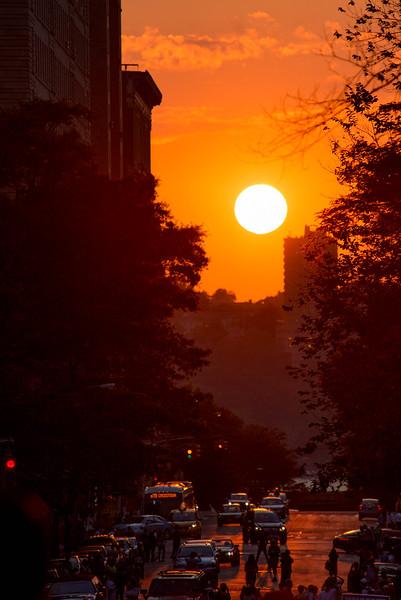 Manhattanhenge sunset. New York City, NY