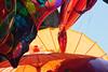 Columbus Avenue, New York. Street Fair. Paper umbrellas