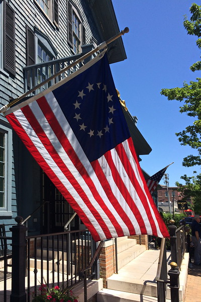 Colonial and Modern American Flags