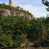 View of Smiley Tower from Eagle Cliff Road. Mohonk Preserve, New York