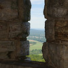 East view from one of Smiley Tower's window. Mohonk Preserve, New York