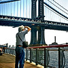 Tom taking a pic of the East River.