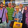 Saudi girl and her family