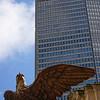 Grand Central Station eagle w Met Life bldg