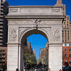 Washington Square arch & Empire State Building 2
