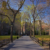 diagonal in Washington Square
