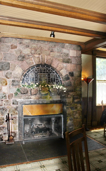 Library Dining Room Fireplace