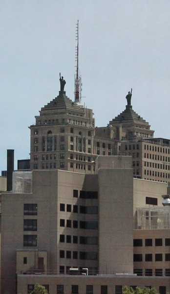 Twin Statues of Liberty atop the Liberty Building