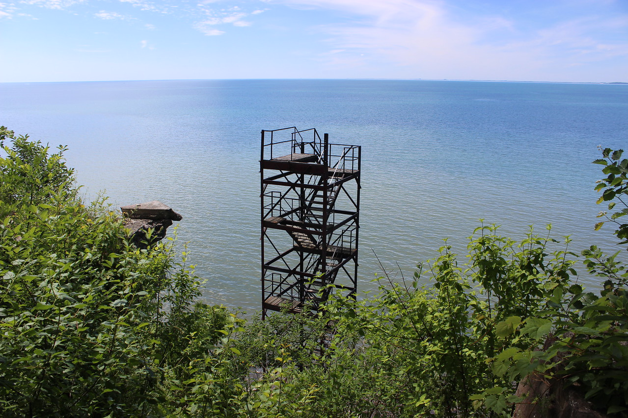 Stairway to Lake Erie