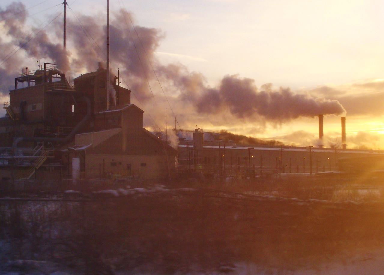 Factory in Winter