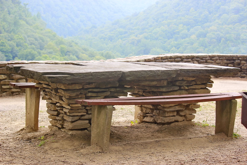 Conservation Corps Stone Picnic Table
