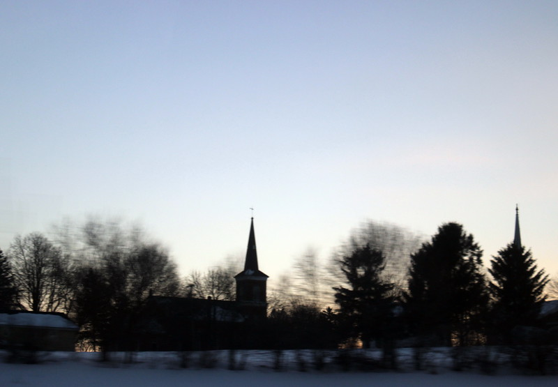Village Church at Twilight