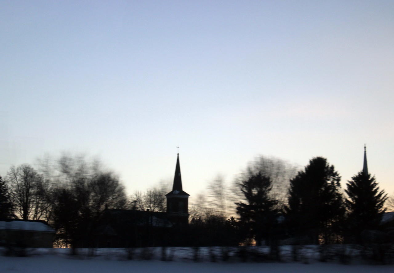 Village Church at Twilight