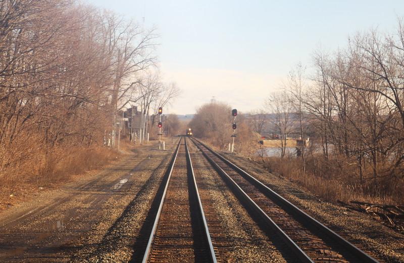 Approaching CSX Train
