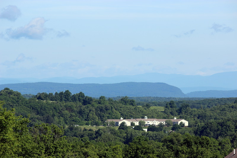 View of the Catskill Mountains from La Grange