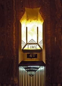 time display inside Chrysler Bldg