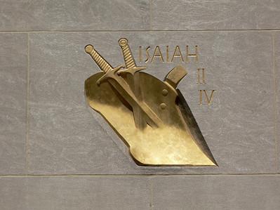 Isaiah swords into plowshares
