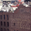 faded Coca-Cola brick wall