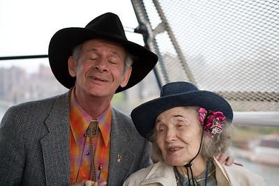 Party Marty & friend on Roosevelt Island tram 2