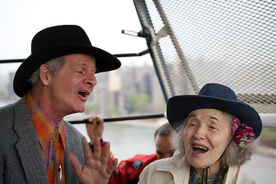 Party Marty & friend on Roosevelt Island tram 1