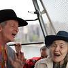 Party Marty & friend on Roosevelt Island tram 1