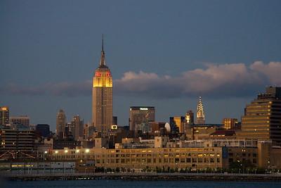 tip of Manhattan dusk