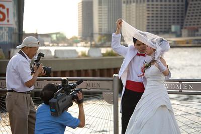 Chinese wedding couple