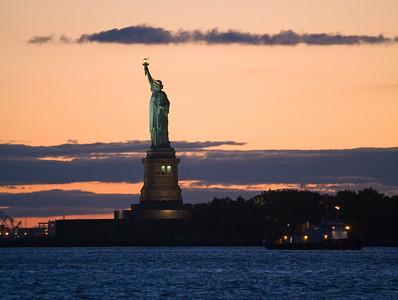Lady Liberty & tugboat