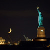 Statue of LIberty with moon