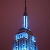 blue Empire State Building