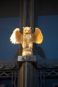 golden owl Brooklyn Public Library