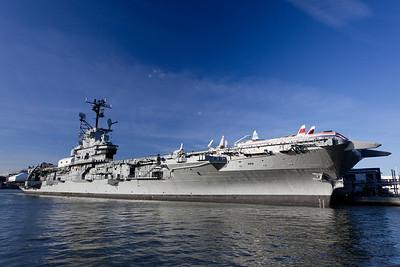 USS Intrepid blue sky