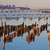Hudson River pilings and George Washington Bridge 3