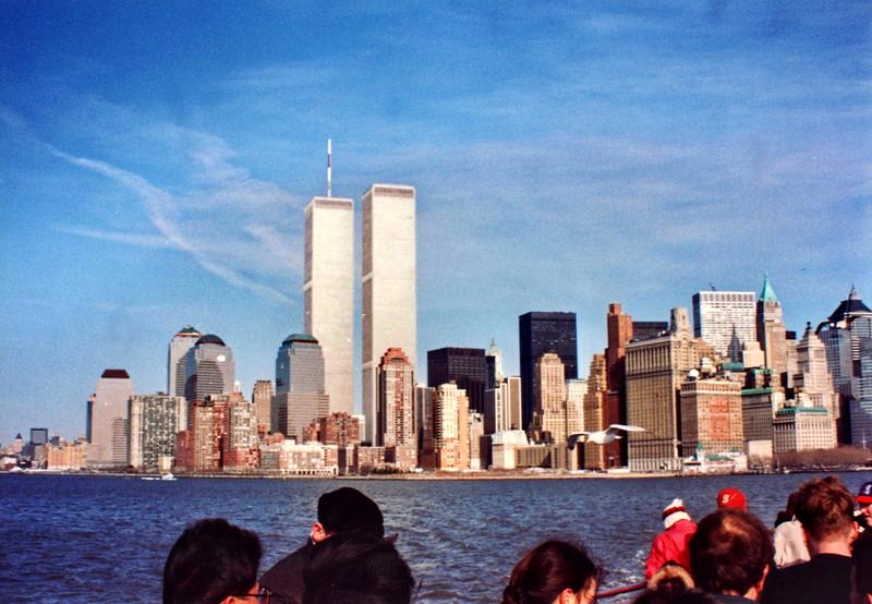 Twin Towers and Lower Manhattan Skyline