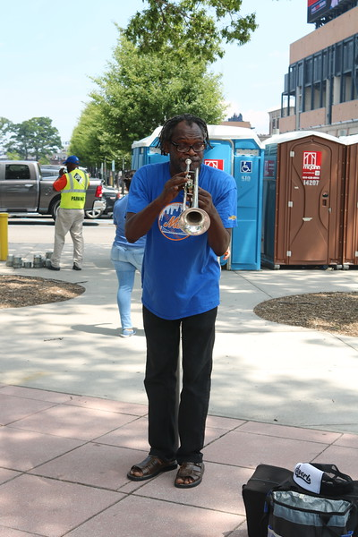Trumpet Player at citiFIELD