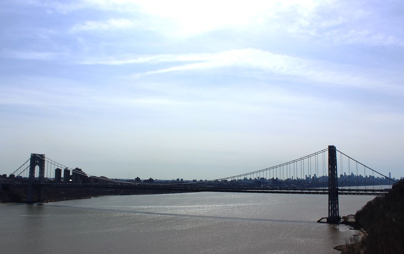 George Washington Bridge across the Hudson River
