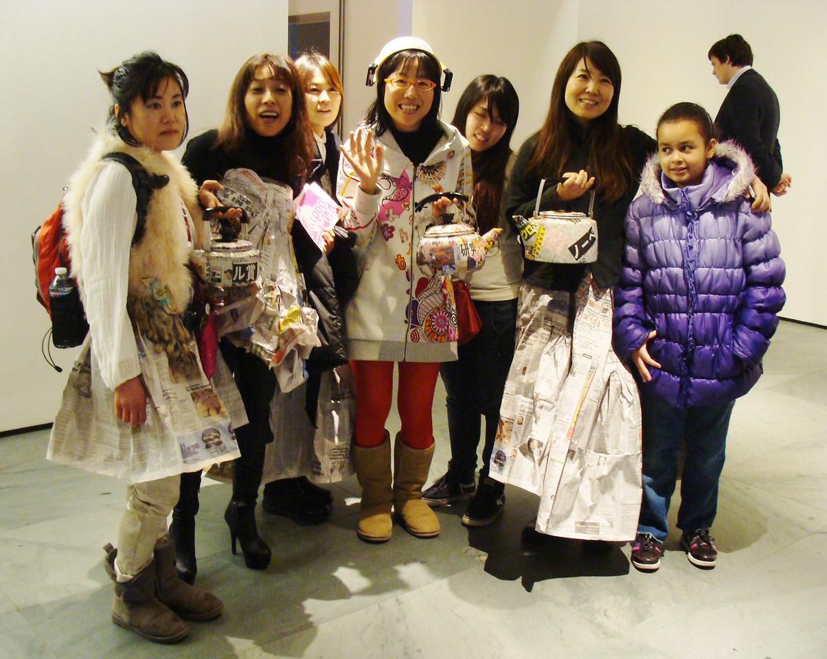Newspaper Fashion Art at MoMA