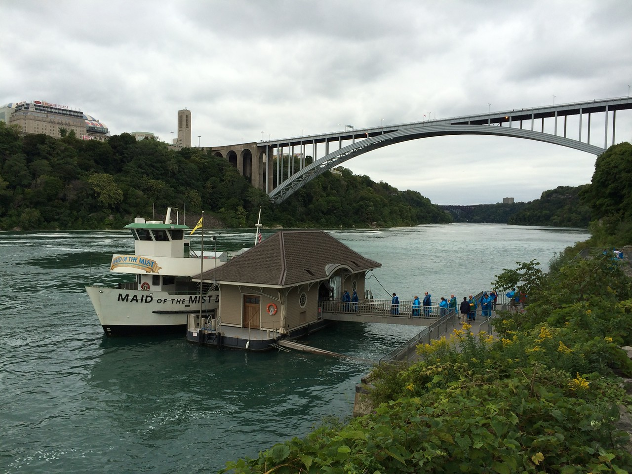 Maid of the Mist Dock and Rainbow Bridge