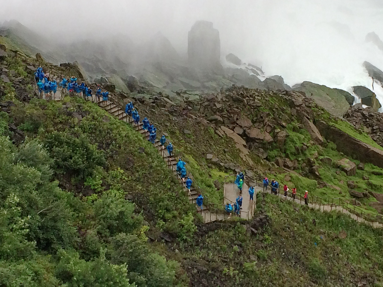Rocky Slope into the Mist